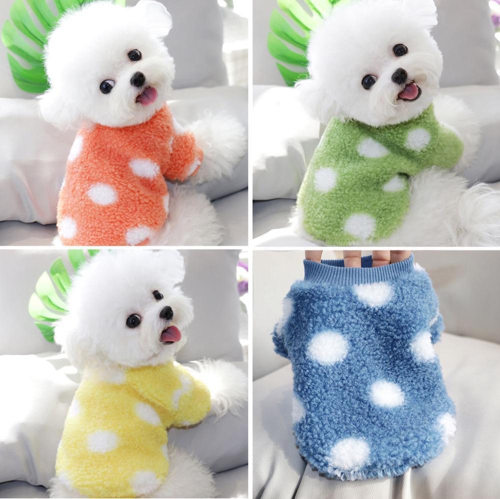 Punto cálido perro suéter otoño e invierno ropa de invierno bichon teddy pomeranian schnauzer yorkshire gato caniche cachorro pequeño perro ropa