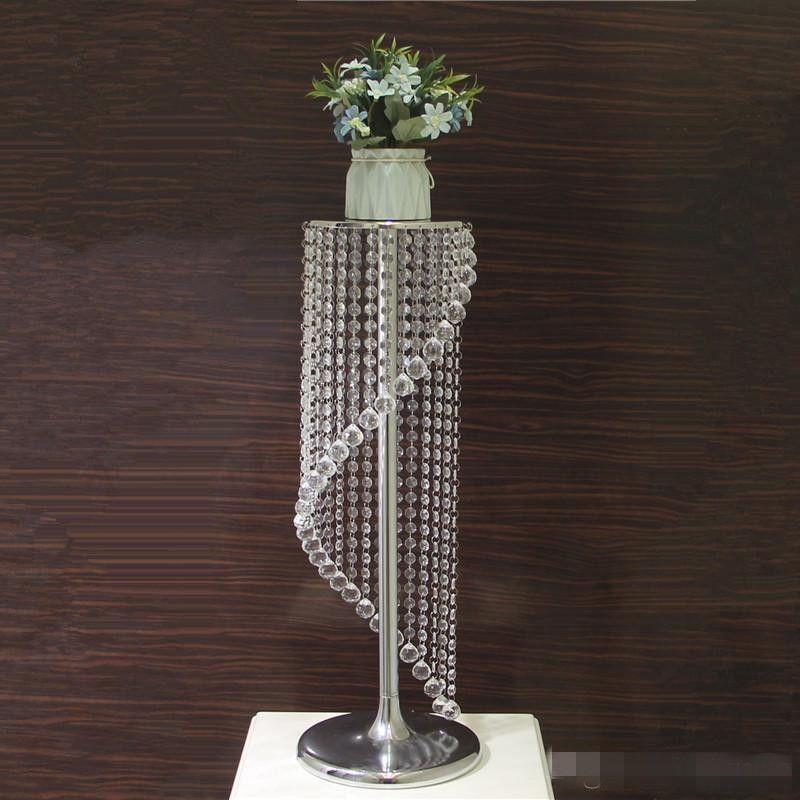 Свадебные украшения Crystal Clear Acrylic Таблица Centerpieces металла цветка шарика Vase партия события Новогоднее украшение