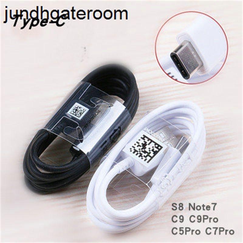 S10 para Sam Sung S9 Galaxy S10 + S9 + S10E S8 S8 + Note 9/8 A9 A9S A7 A5 A3 Tipo C 3.1 USB-C Sincronización Cable de cargador rápido Chargi