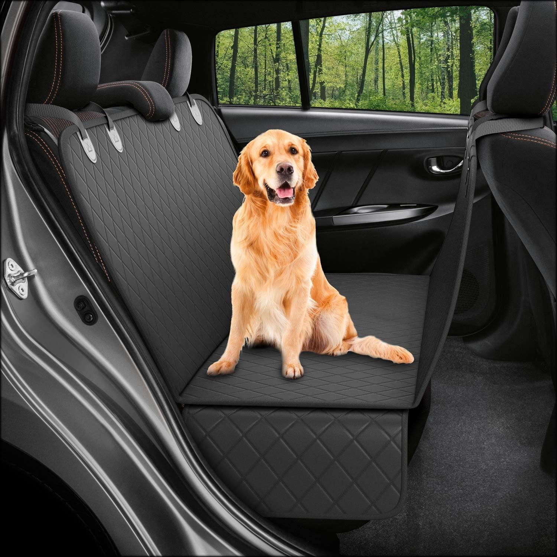 Hunderückseite Sitzbezug Protector wasserdicht kratzfest Nonlip Hängematte für Hunde Rücksitz Schutz gegen Schmutz Pet Fell für Autos carqc25