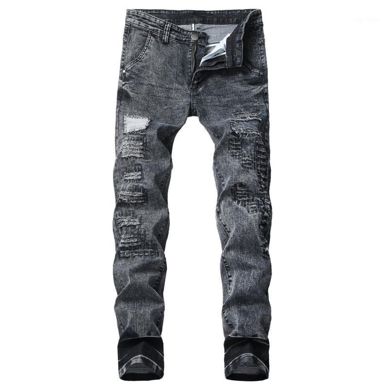 Persona dei jeans della moda da uomo Personaggi Slim fit Pants classico Denim Jeans Designer Pantaloni Designer Casual Straight Elasticity Pants C11