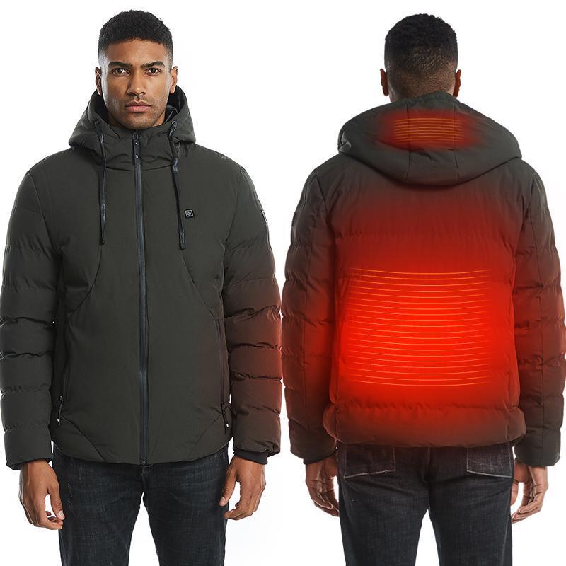 Volta à prova de vento Voltar aquecimento jaqueta moda colete usb montanhismo compras esquiing manter casaco quente para homens e mulheres
