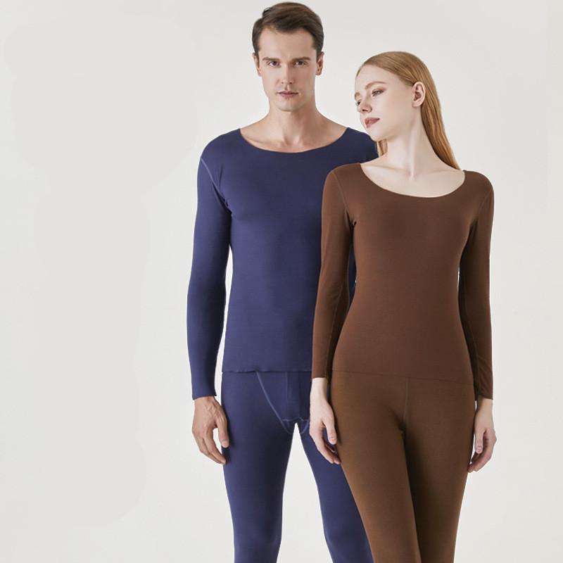 Conjunto de ropa interior térmica para hombre para mujer Ropa de invierno Camisa superior de manga larga Sexy lencería traje para deportes Body COMPRESIO CALIENTE