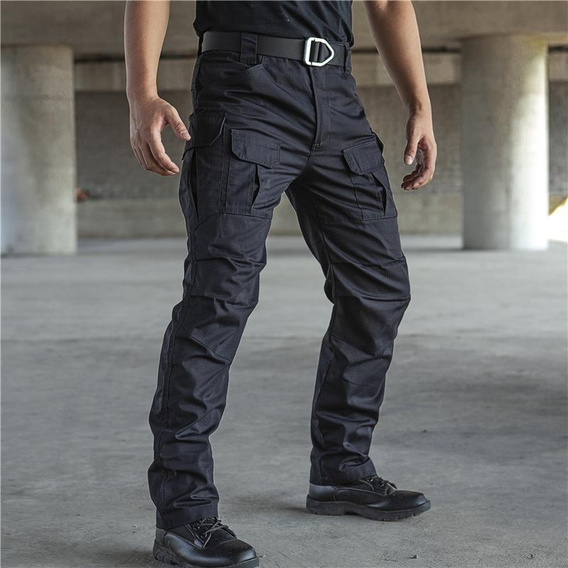 All Seasons Long Pants Man Safariart Cargohose dünne beiläufige Oberbekleidung Taschen Wasserdichte Täglich Mens Plus Size IX8 kühlen