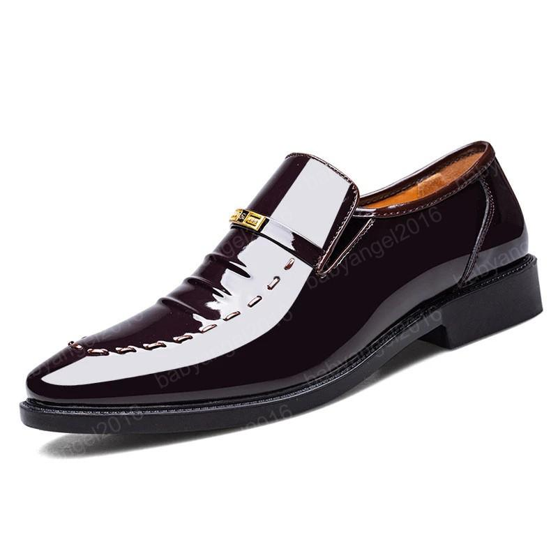 Luxus formale Schuhe Männer Klassische Lackleder Schuhe für Männer Büro Kleid Schuhe Männer Müßiggänger Zapatos de Hombre