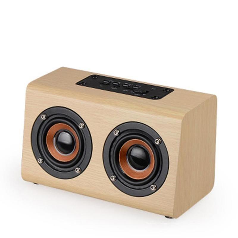 Ahşap Kablosuz Bluetooth Hoparlör Soundbar Taşınabilir HIFI Bas Hoparlör Ses Ses Bar Caixa De Som