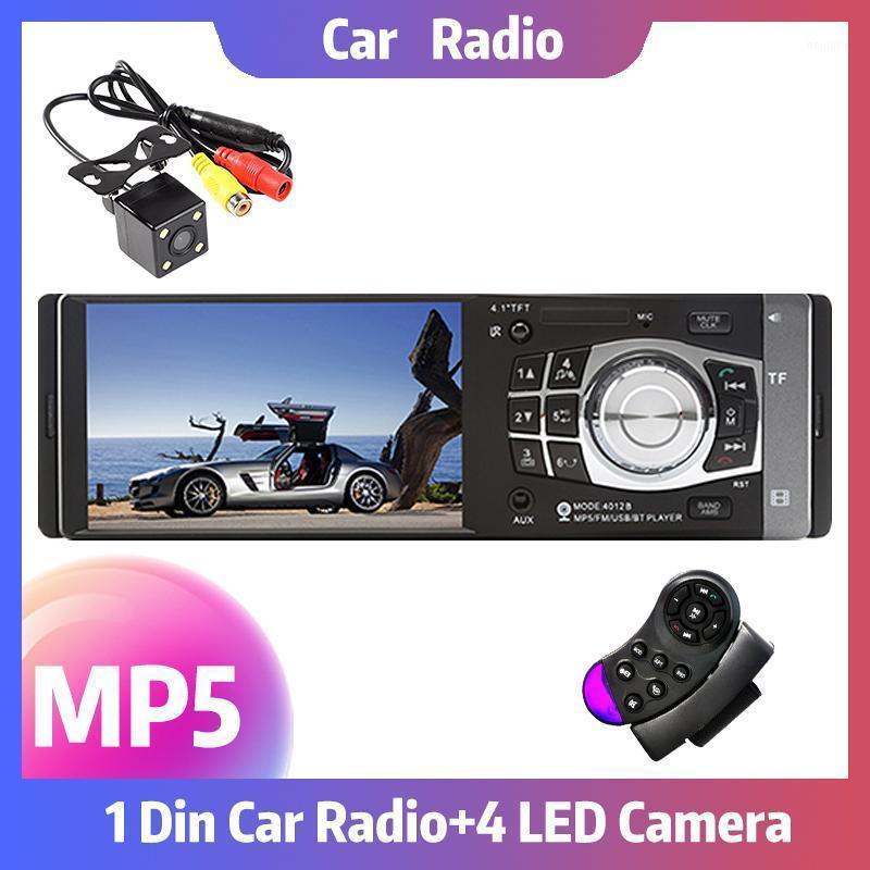 Araba Ses 4012B 4.1 inç Radyo Bluetooth Otomatik Stereo Destek Dikiz Kamera Android FM MP5 Player 1 DIN1 için Kamera USB Ayna Bağlantı