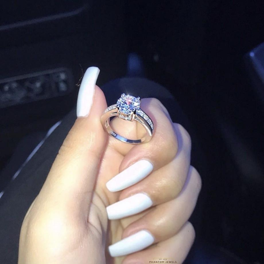 Anillo de anillo de pareja de fábrica2j8ywomen con joyería con incrustaciones de circón