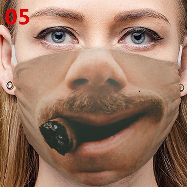 U6auhu preço de fábrica desenhador rosto vermelho máscara personalidade expressões faciais engraçado comércio exterior transfronteiriço de poeira de algodão à prova de poeira ma 6 n