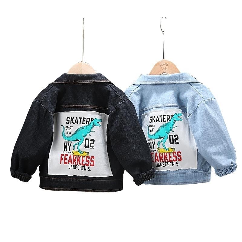 Chaqueta de mezclilla de dibujos animados para niños abrigos de moda Ropa para niños Otoño bebé niñas ropa exterior prendas de dibujos animados top chaquetas abrigos 201104