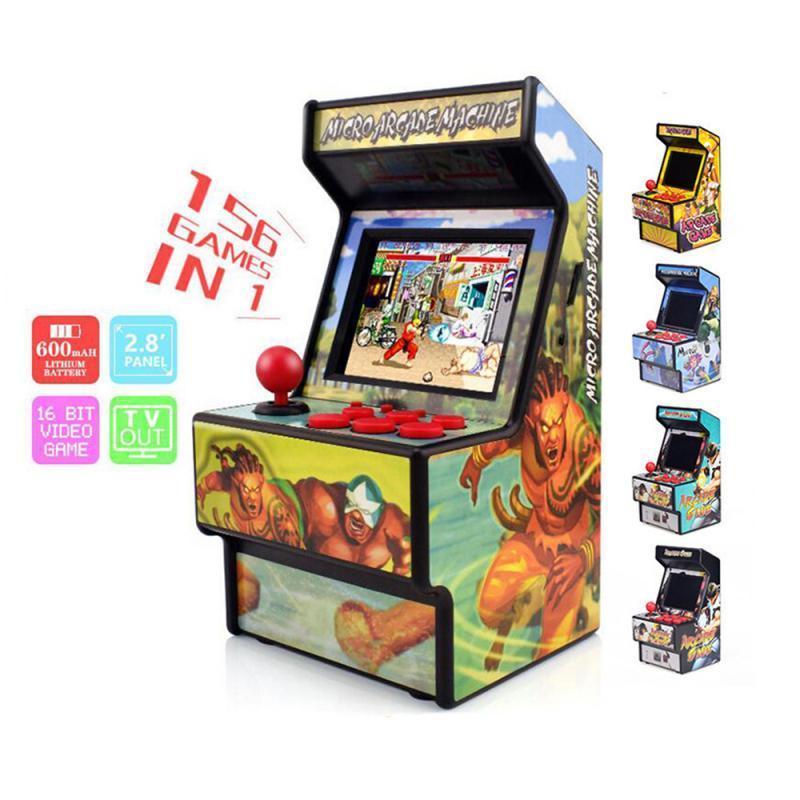 Пять вариант ретро Mini Arcade Handheld Game Console 16 Bit Game Player Встроенный 156 Классический Поддержка ТВ-выход
