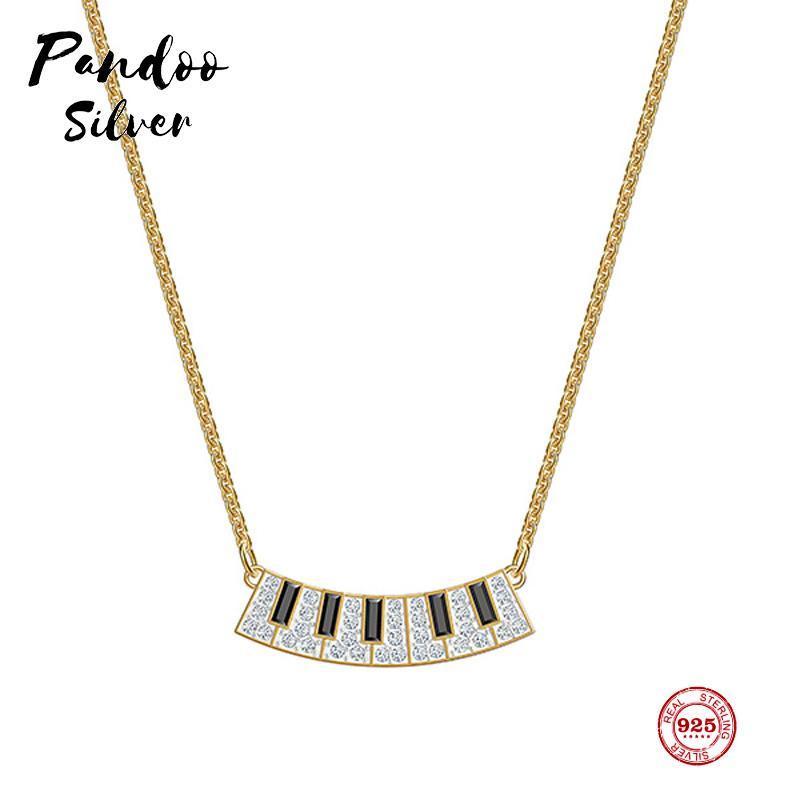 Moda fascino puro copia originale, semplice tastiera elettronica clavicola catena collana femmina gioielli di lusso regali