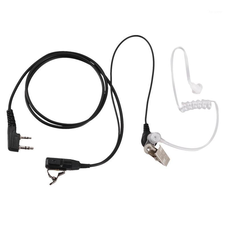 Hava Akustik Tüp Kulaklık Baofeng Walkie Talkie Için Taşınabilir Radyo Aksesuarları 2 Pin BF-888S UV-5R1 için Feadset Mikrofon