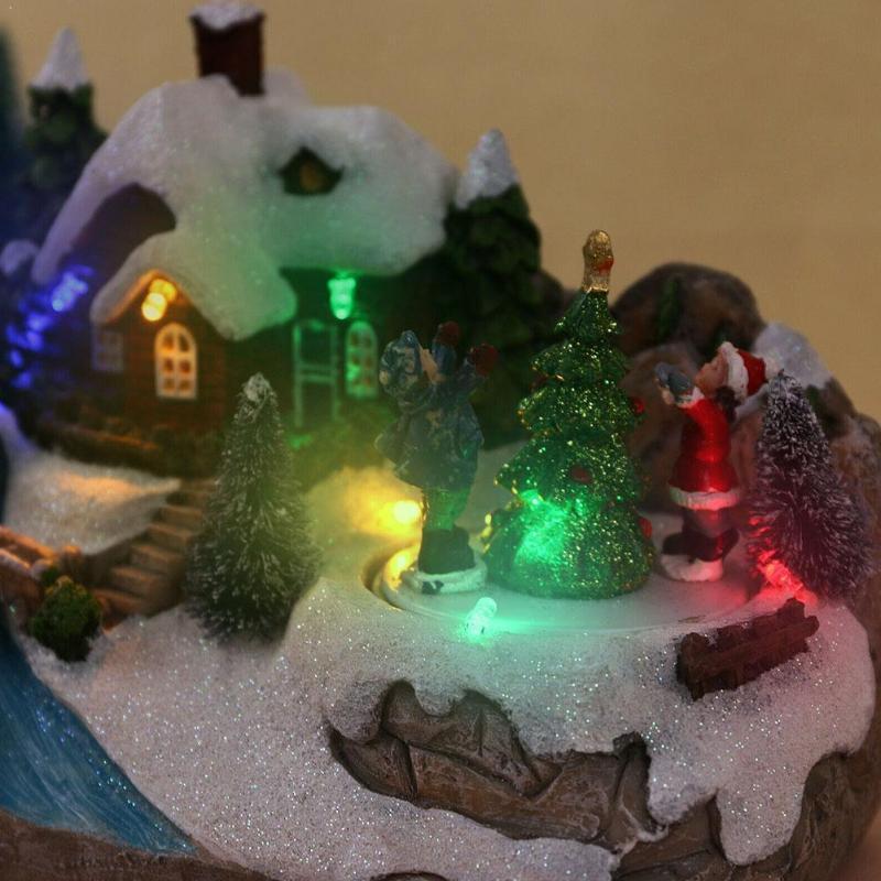 1 Set résine Scène de Noël Village Maisons de village City LED Home Cadeau Ornement ACCESSOIRES D'ACCESSOIRES POUR LES FILLES DE VACANCES C1B8
