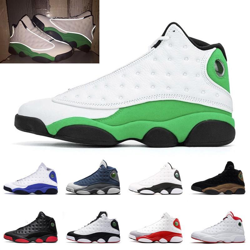 Новое Прибытие 13 13S Мужские Баскетбольные Обувь Люки Зеленая Зеленая Высота Грязные разведенные У него есть игровые площадки Женщины мужчины Скидка Спортивные кроссовки 5.5-13