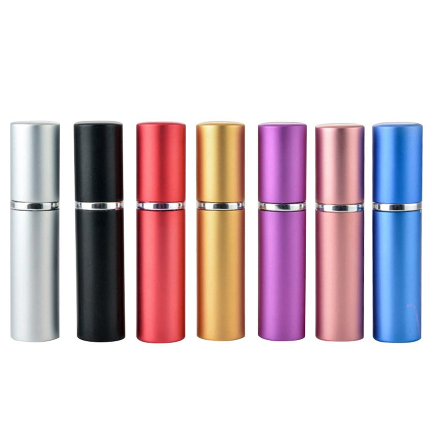 5ml Tragbare Mini Aluminium nachfüllbarer Parfümflasche mit sprühregener Make-up-Behälter mit Zerstäuber für Reisende Meeresversand RRA4016