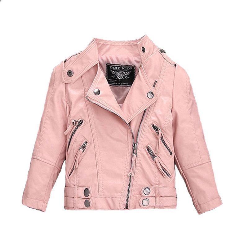 Winter Pu Girls Outerwear 2020 Brand Jackets for Boys Leather Teeanger Coat 1-12y Children Plus Velvet Zipper Thick Windbreaker