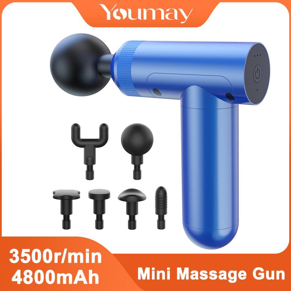 Youmay mini massagem arma fáscia arma massageador muscle massager corpo relaxamento esporte terapia alívio de alívio emagrecimento molho para pescoço z1226