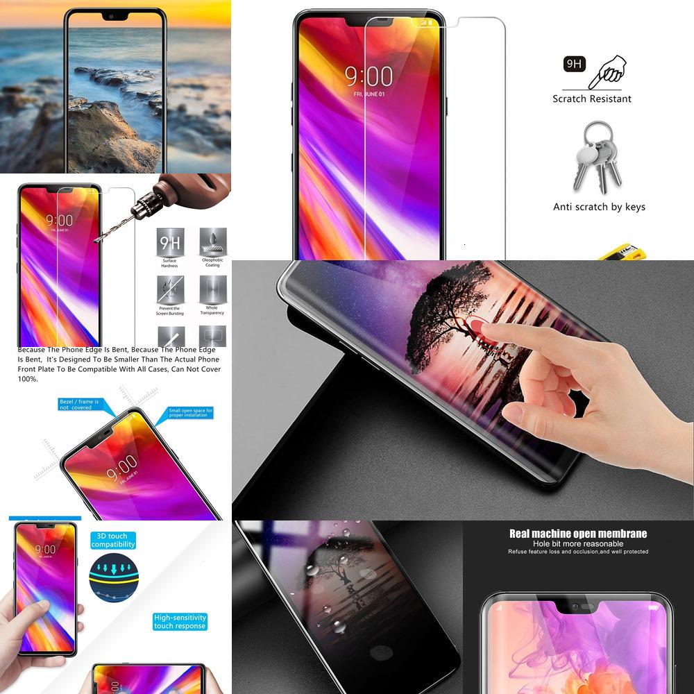X698Glass 2.5D 0.26mm 9H Premium Tempered Screen Protector Toughened protective film For LG G7 ThinQ 6.0\