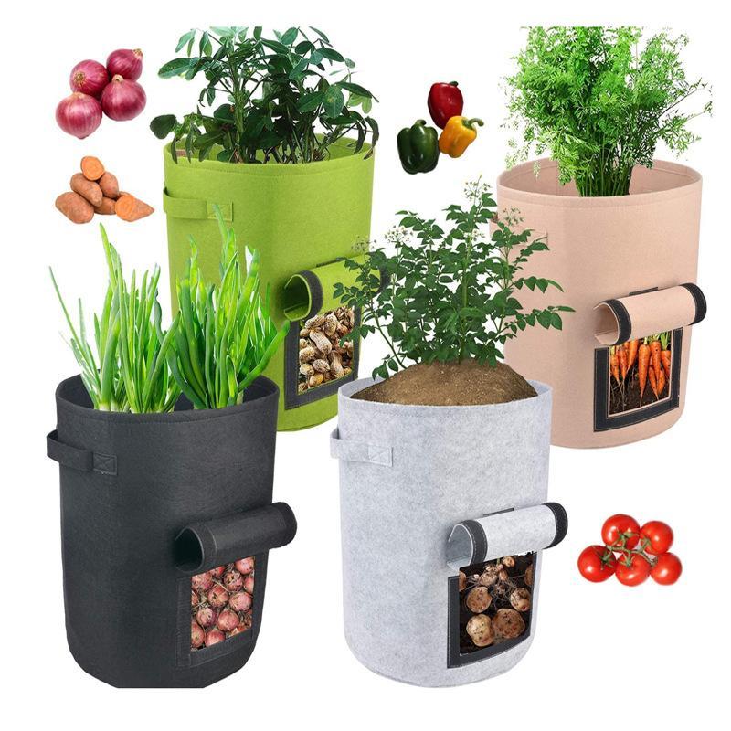 Planta crescer sacos de casa jardim pote de batata estufa vegetal crescimento sacos hidratantes jardin vertical saco de jardim ferramentas GWF5078