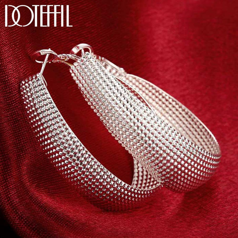 Doteffil Nuevo 925 Pendiente de plata esterlina Pendientes para bodas Fine Europa Joyería Regalo de Navidad Fiesta de compromiso