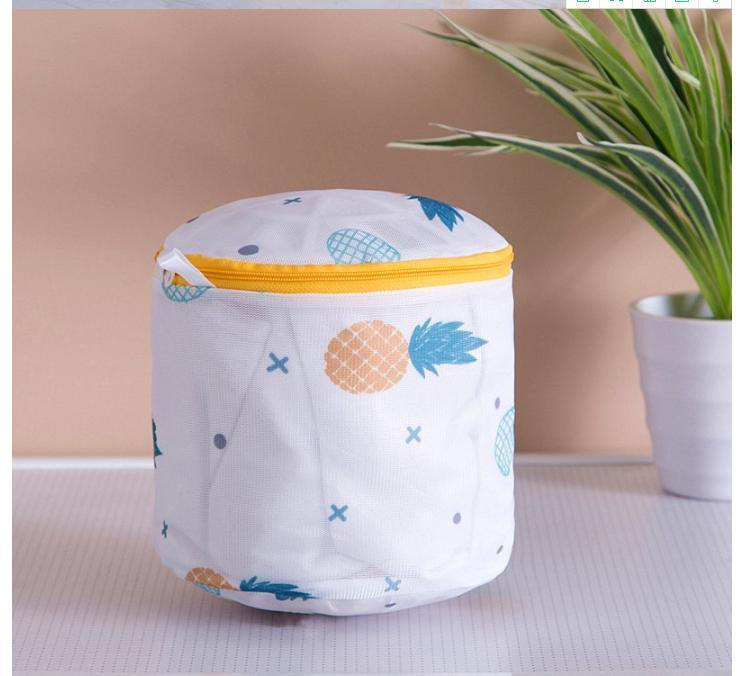 Ananas Druck Reißverschluss Mesh Wäscherei Tasche Polyester Waschen Net Bag für Unterwäsche Socke Waschmaschine Tasche Kleidung BH Bags BWA2414