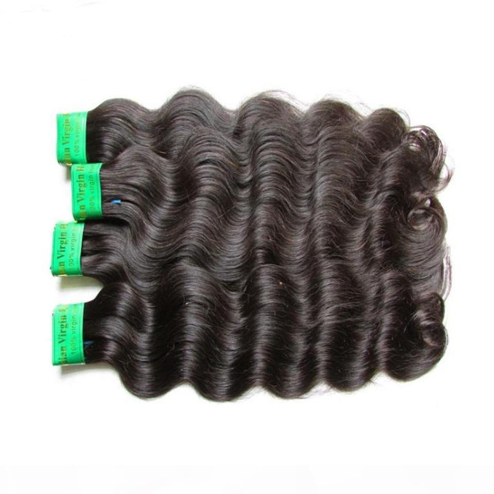 Wholesale 9a brut indien vierge cheveux cheveux vague 1kg 10bundles lot non transformé Remy Human Cheveux Extension Tissue Couleur naturelle