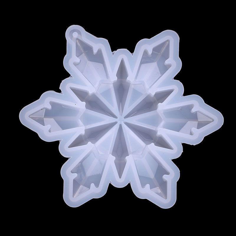 Espelho Cristal Gutta Percha Molde Branco Grande Floco de Neve Do Duplo Deck Molde de Silicone Fazendas Acessórios Novo 5 5TE J2