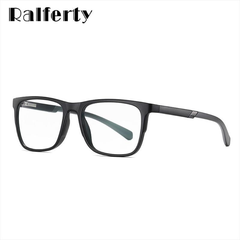 Ralferty Männlich Optische Frames Platz TR90 Gaming blaues Licht-Glas-Rahmen für Männer Myopie Anti-Glare-Computer-Brillen-D2309