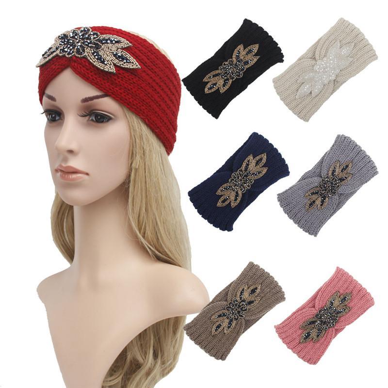 8 Renk Örme Kafa Kadın Yünlü İplik Saç Bandı Kış Açık Havada Spor Saç Aksesuarları Yoga Kafa Band Parti Favor T9i00827