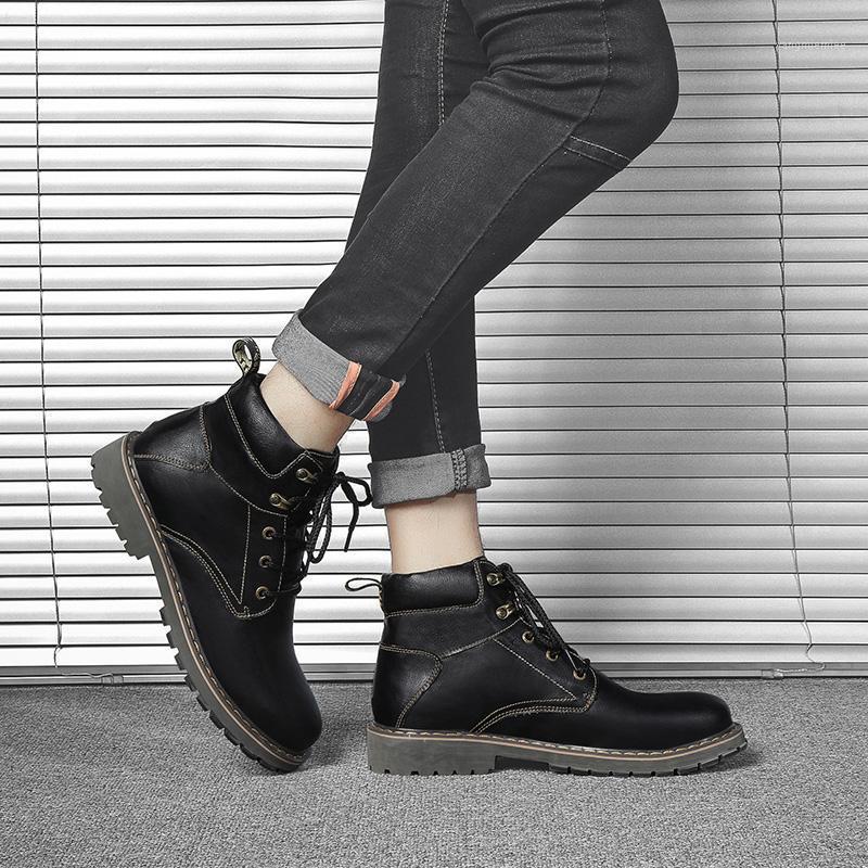 Yüksek Satış Üst Adam Rahat Ayakkabı Sneakers Sneaker Erkekler Sneaker Deri Sıcak Spor Giyim Moda Erkek Mens Bir Yüksek Ayakkabı Flat1