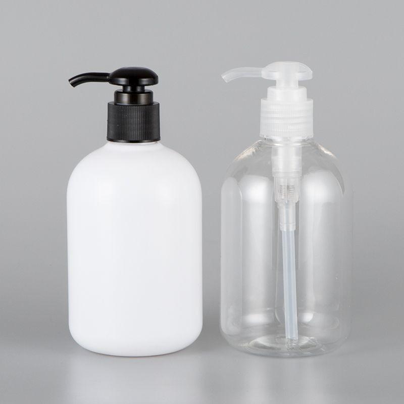 Большая емкость 30pcs 350мл Clear White Пластиковые Шампунь Пустой Лосьон Контейнер прессованная Pump Bottle для мыла Гель для душа