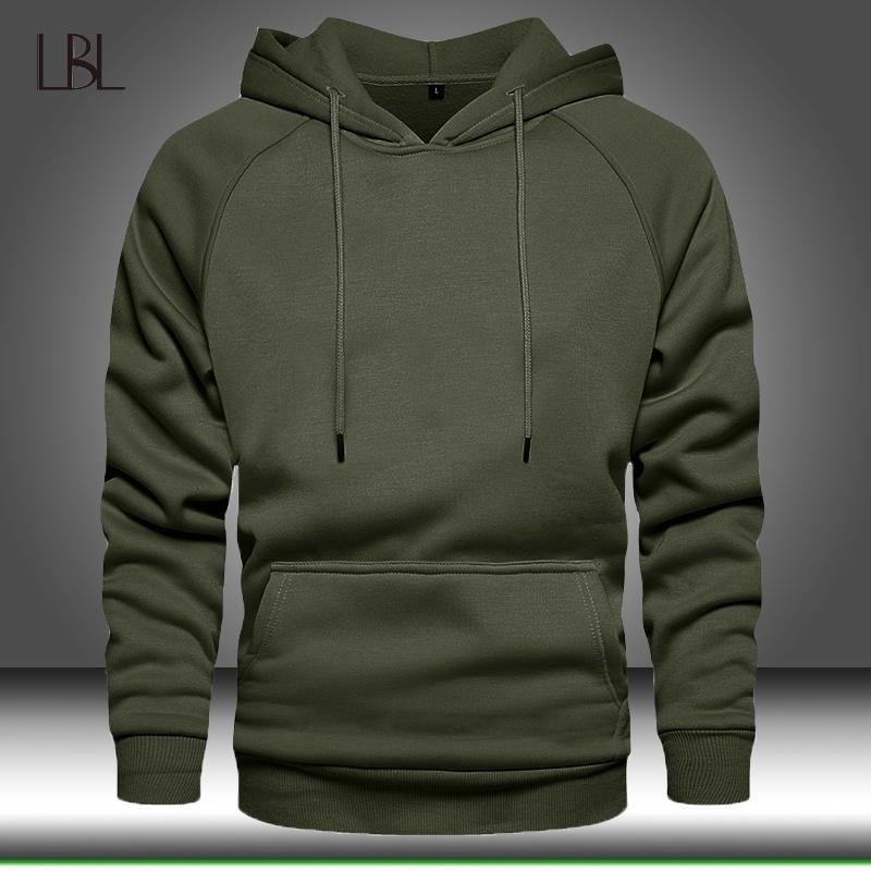 Мужские толстовки для толстовки Мужчины сплошной цвет капюшона хип-хоп уличная одежда EUREWOW осенью зима с длинным рукавом капюшон мужской пуловер