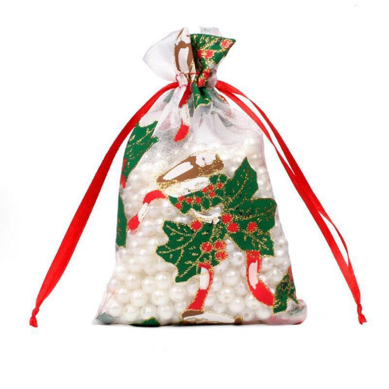 Nuove tasche Bundle Garza Borse in organza Borse Candy Sacchetto per il regalo Cioccolato Natale Chandes Candy Coulisstring Bags Goyy Bags 18 * 10cm CCA2722