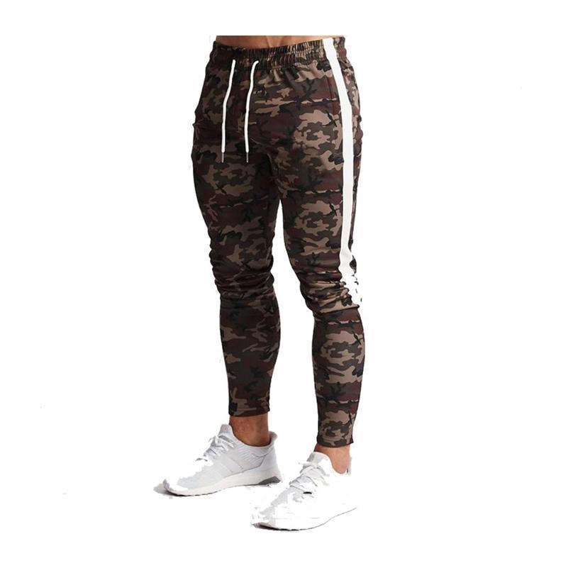 Pantalons Joggers Hommes Camouflage TrackSuit Pantalon de survêtement Deporte Fitness Mens Pantalons Hommes Casual Skinny Pantalon Sport Sport Pantalon Crayon Lj201217