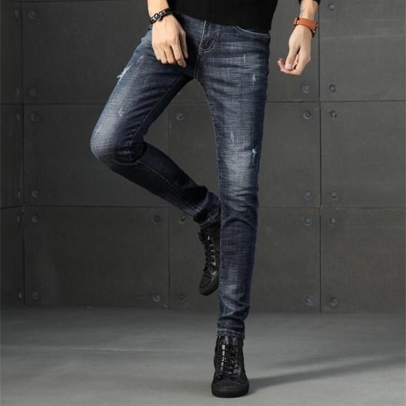 Kostenloser Versand hohe qualität stilvolle populäre langjährige Männer Jeans Stretch lange männliche Hose 201111