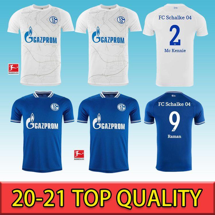 20 21 Schalke Maillot de Foot Kutucu Serdar 2020 2021 FC Schalke 04 Harit Raman Футбольная футболка Ozan Harit Jersey