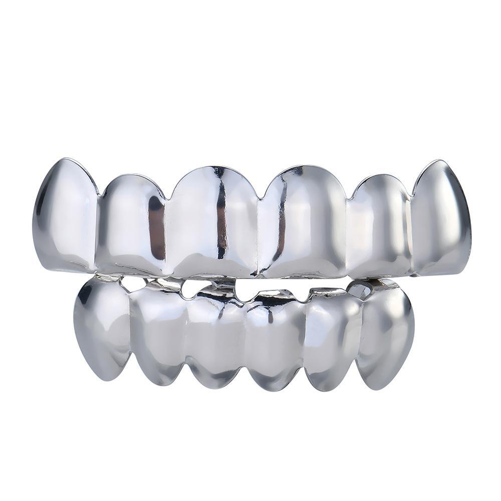 Alta calidad europeo y americano dientes chapados en oro Hip hop zócalo diente brillante diente de oro cantante de zócalo decoración popular diente socket gr