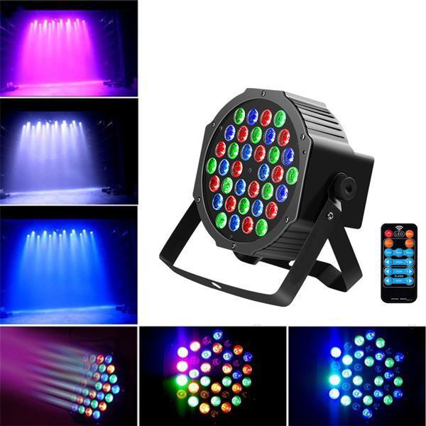 36W 36-LED RGB Remote / Auto / Sound Control DMX512 Hohe Helligkeit Bühnenbeleuchtung Mini DJ Bar Party Top Qualität Bühnenlampen Kostenlose Lieferung