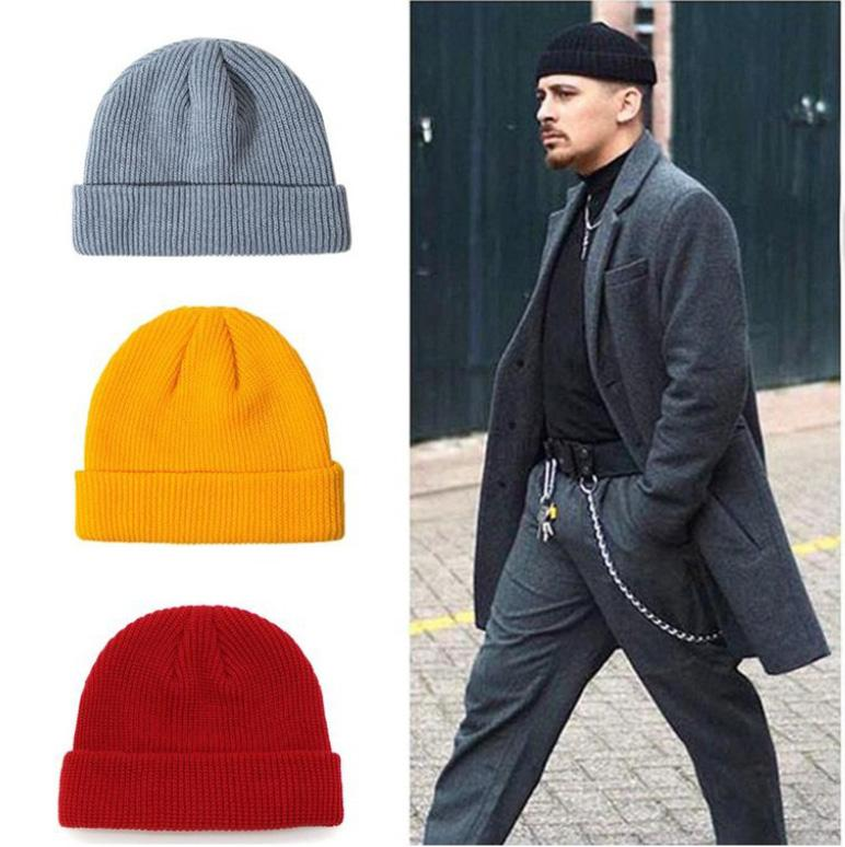 Autumn Winter Mens Hat Skull Caps For Men Women With Dome Fashion Adjustable Solid Cap with High Quality Party Warm Hat HH9-3617
