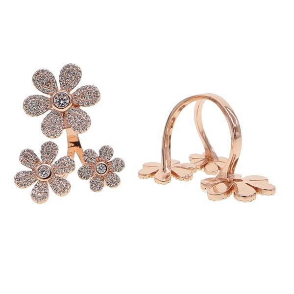 3 PC Flower Dainty Regola Anelli dito con colore oro rosa margherita anello di fiori Gioielli donne aperte bracciale dato anelli Y1209
