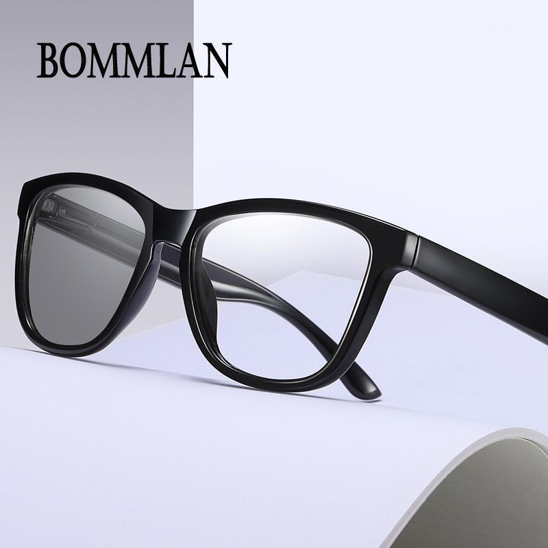Солнцезащитные очки Bommlan против голубого света, изменяющие очки, изменяющиеся очки унисекс плоский европейский и американский ретро синий изменяющийся1