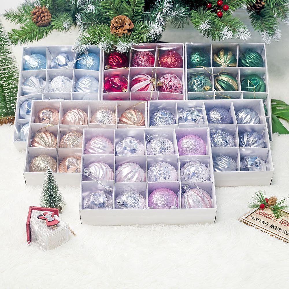 Noel Süsler Noel Ağacı Süslemeleri yaklaşık 6 cm Topları için Tatil Düğün Parti Dekorasyon Ağacı Süsler Kancalar BWA2806