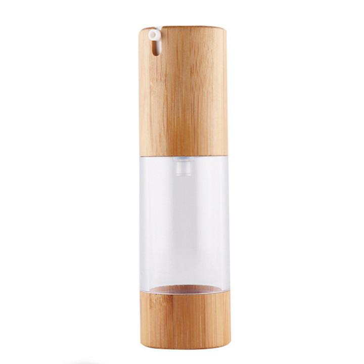 DHGATE di alta qualità Bamboo Airsless Body Pompa Cosmetic Pump Cappuccio Airless Lotion Bottle 30ml Eco-friendly Body Pump Pump Pump Freeship