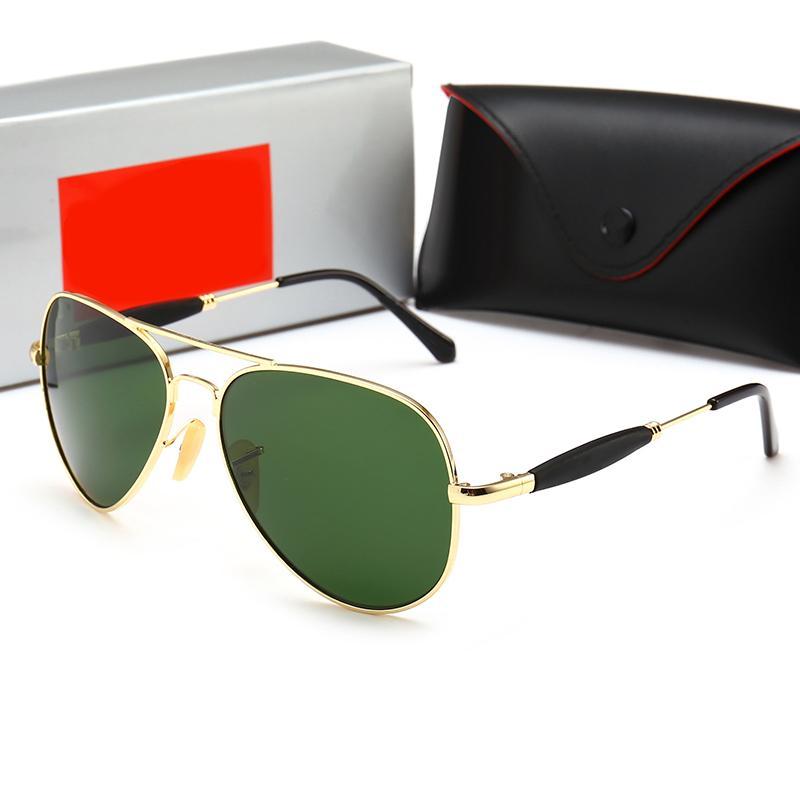 New Luxurys Designer Marke Mode Männer Pilot Sonnenbrille UV400 Outdoor Sport Vintage Frauen Sonnenbrille Eyewear Glass Objektiv mit Kasten und Hüllen
