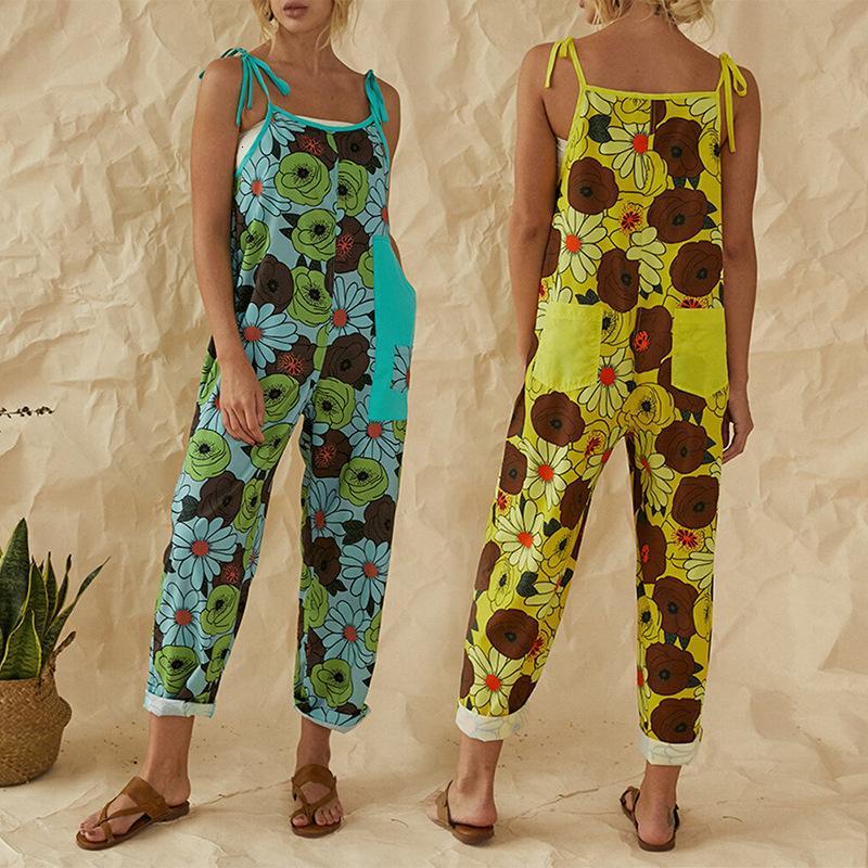 Ladies 'Summer Print Sportenders casual Jumpsuit Jumpsuit