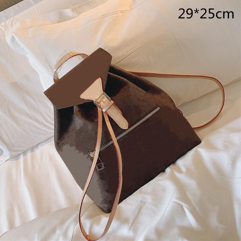 المرأة المتوسطة الظهر حقائب مدرسية جديدة الكلاسيكية طالب زهرة سلسلة حقيبة الظهر جودة عالية الأزياء حقيبة الكتف L21013003
