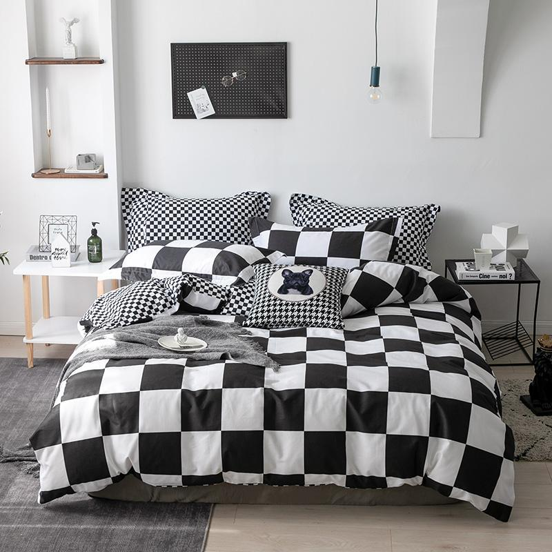 100% cotton Home Decor Bed linen new duvet cover bedding set Quilt cover Lines sheets Bedspread for bed Pillow case Home Textile