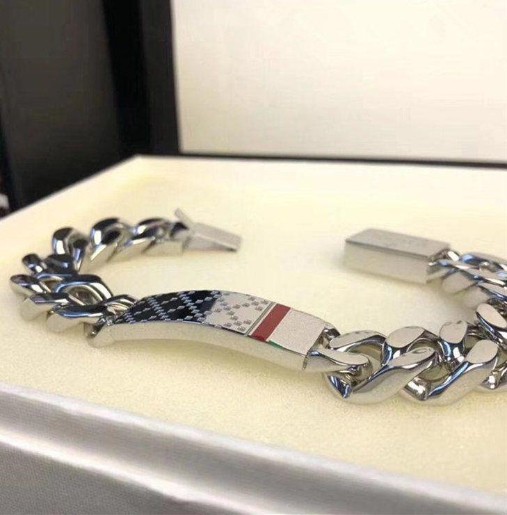 Heiße Verkaufskette Armbänder für Männer Frauen Titan Stahl Armband Armreif Mode Silber Schmuck Liebhaber Geschenk (mit Box)