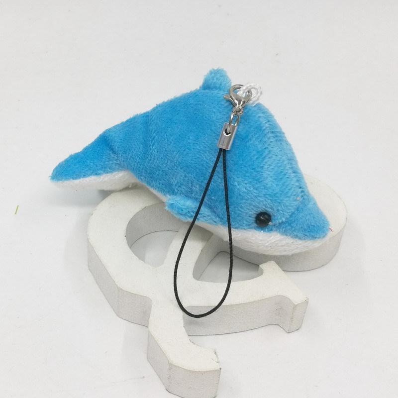 Nuevo regalo de simulación colgante niño estilo juguete teléfono móvil bolso llave dolphins felpa muñeca juguete de dibujos animados egsds